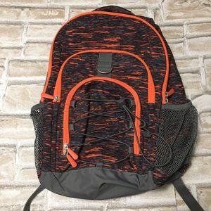 Pottery Barn PB Teen boys backpack, orange & gray